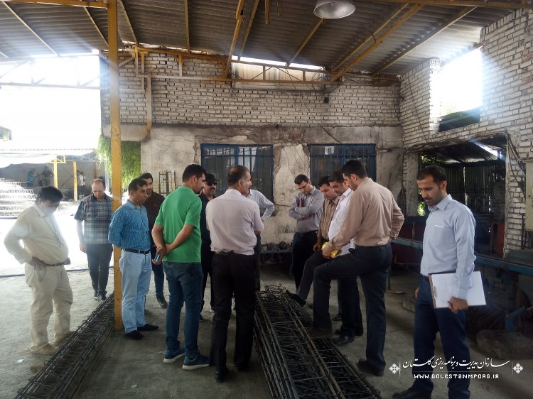 بازدید از کارگاههای تولیدی بلوک و تیرچه بتنی در استان