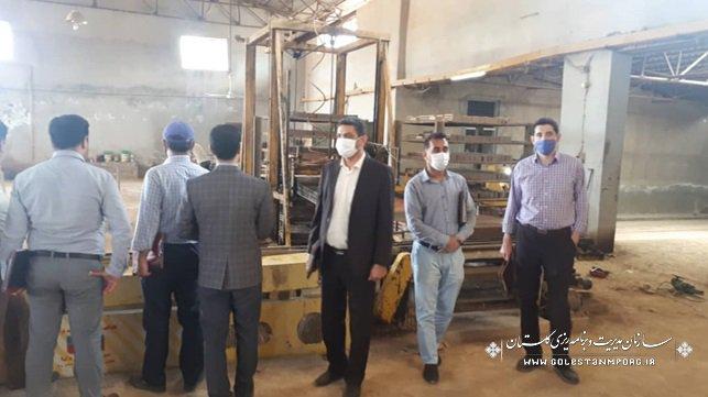 بازدید کارگاه های تولید آجر (بلوک سفالی، آجر فشاری) شرق استان