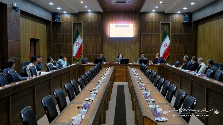 جلسه کارگروه پیمان و ضوابط فنی شورای فنی استان گلستان 1399