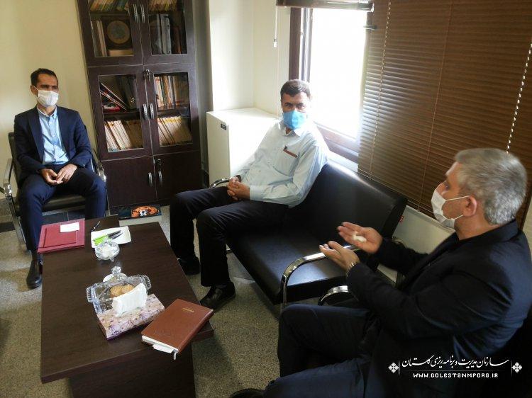 نشست با اعضای هیات رئیسه انجمن صنفی پیمانکاران عمرانی استان