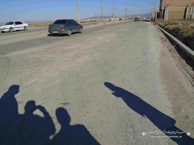 """بازدید از """" جاده کمربندی شهر گالیکش """""""
