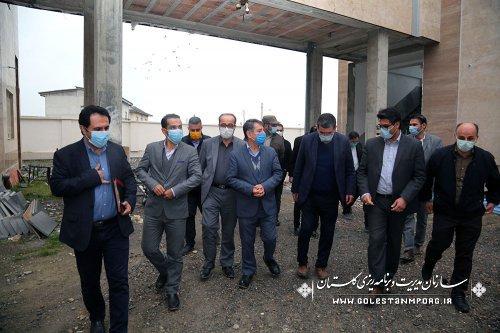 بازدید مدیر نظام فنی و اجرایی سازمان مدیریت و برنامه ریزی استان از پروژه های با پیشرفت بالای استان