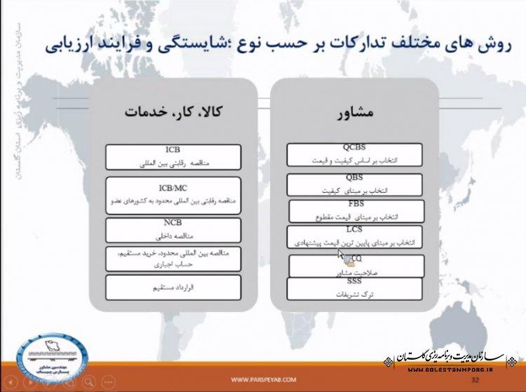 برگزاری دوره آموزشی آشنایی با دستورالعمل بانک توسعه اسلامی در خصوص انتخاب پیمانکاران و مشاوران و پرداخت های آنها