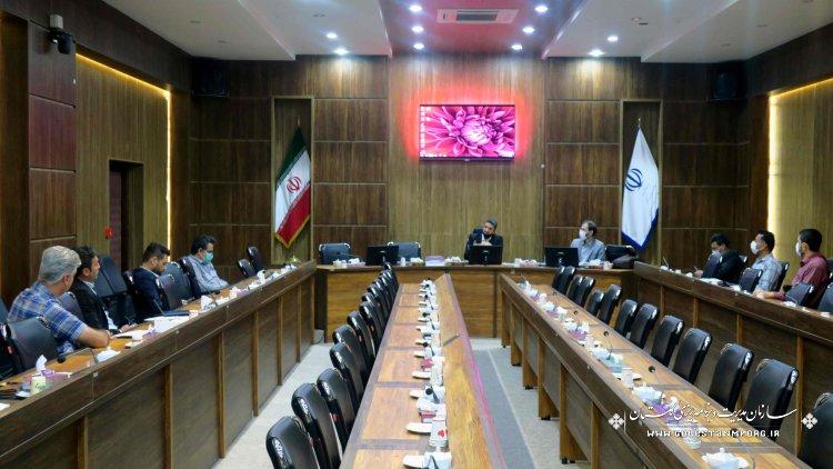 سومین جلسه ظرفیت سنجی واحدهای تولید کننده آسفالت در استان گلستان